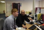 Administrative Assistant Ben Nath with HSE Manager Stephen Andrew