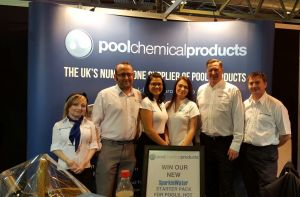 The Pool Chemical Products team at the UK Pool & Spa Expo