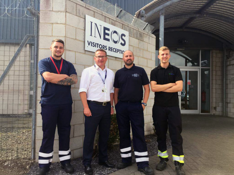 Biochemica Water team on site at INEOS Nitriles Seal Sands